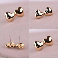 New fashion women 18 k yellow gold filled  heart Jewelry Ear Studs earring wh307