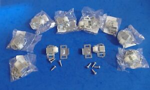 LOT OF TEN ZINC PLATED SINGLE ROLLER CATCH CATCHES 10X