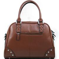 Dasein A-Frame Studded Women Leather Satchel Handbag Shoulder Bag Purse