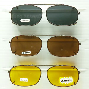 Clip on spring sunglasses men women fish drive metal frame blocking 100% uv