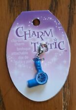 CHARM TASTIC BLUE HAIR DRYER CHARM WITH LOBSTER CLASP - BEAUTICIAN - STYLIST