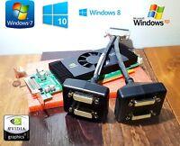 Dell Optiplex SFF 790 990 7010 9010 NVIDIA Quadro Quad 4 Monitor DVI Video Card