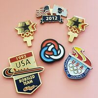 SET of 6- OLYMPIC PINS---LA 1984, 1992 BOBSLED TEAM, 2006, 2012, & OLYMPIC RINGS