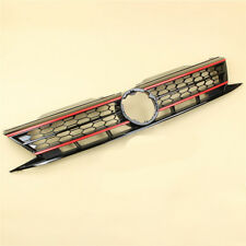 NEW Front Bumper Grille Grill Honeycomb Red Trim For VW Jetta 15-17 Modified