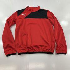 Puma Sweater Youth 2XL XXL Red Black White Logo Pullover Kids Track Gym Boys