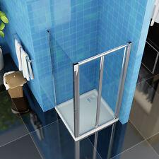 90x70cm Duschkabine Rechteck Duschabtrennung Klapptür Dusche Echtglas Duschwand