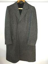 ADAMS ROW 100% Wool Overcoat Trench Tweed Herringbone Coat Men's Size 42 LG USA
