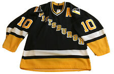 Ron Francis Pittsburgh Penguins Vintage Black Med CCM 1993 Jersey Sewn Letters
