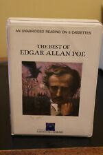 The Best of Edgar Allan Poe Book On Cassette Tape Listening Library Rare