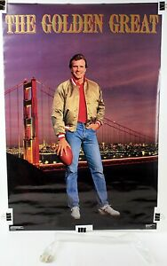 "Joe Montana Golden Great SF 49ers Original NFL Costacos Poster 1987 24""x35 7/8"""