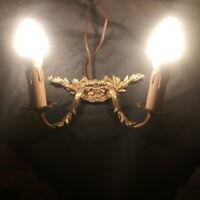 Applique en bronze deux lumières, électrifiée ! Bon état !