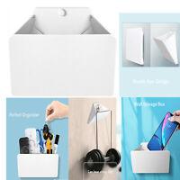Wall Mount Handle Hanger Earphone Stand Foldable Phone Storage Box Organizer*