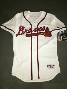 NWT Authentic On Field ATLANTA BRAVES #24 TEIXEIRA Jersey 44 Majestic $250