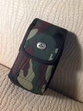 "(Cellphone Size 4.85""x2.75""x0.6"") CAMO Vertical Case Belt Clip Loop Pouch Holder"