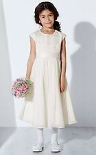 450ece3563 John Lewis Ivory Pleated Bridesmaid Beaded Girl Party Wedding Dress 11 Years