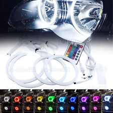 For Mitsubishi Lancer non projector 08-15 Cotton RGB Demon Angel Eye Halo Ring