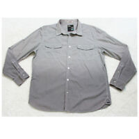 3rd & Army Gray Long Sleeve Two Pocket Dress Shirt Button Up XL Cotton Poly Top