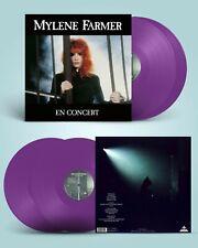 Mylène Farmer Album double 33T En Concert vinyles couleur violets neuf scellé