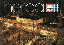 Herpa Katalog 1977-Modell des Jahres-Lokschuppen-Eisenbahn-Triebwagen-Güterzüge
