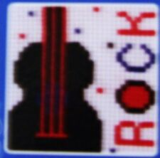 """New ANCHOR Starter  Counted Cross Stitch Kit: """"1ST ROCK"""""""