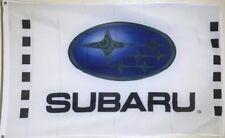 Free Ship to USA SUBARU LOGO White FLAG BANNER SIGN 3x5 feet  wrx xv forester