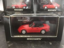 Minichamps Porsche 944 Cabriolet Red 1991 1/43 MIB Ltd Ed