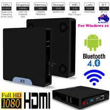 X5 Mini PC Atom Z8350 Quad Core Media Player TV Box 2+32G For Android Windows 10