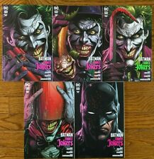 BATMAN THREE JOKERS #1 - 5 VARIANT COVER SET + Playing Card  DC Black Label  NM+