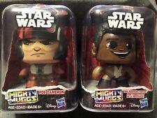 Disney Star Wars, Mighty Muggs, Finn (Resistance Fighter), Poe Dameron (2) NIB