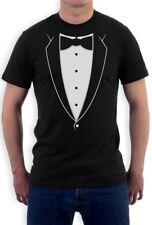 Printed Tuxedo Bowtie Suit Funny T-Shirt Bachelor Party PRom Costume Groom Tux L