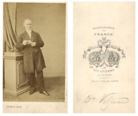 Docteur Velpeau CDV vintage albumen carte de visite,  Tirage albuminé  6,5x1