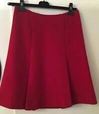 PRADA Skirt Red Wool Pleat Knee-length Heavy Fitted Sz 40 US 4
