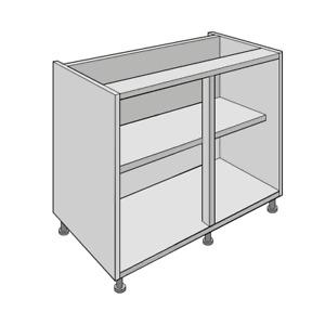 Premium White Flat Pack Kitchen Base Units, Cabinets, Carcass 150-1000mm   18mm