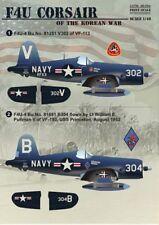 Imprimé échelle 1/48 Terminal F4U-4/AU-1 avions Corsair de la guerre de Corée # 48054