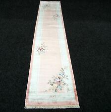 Orient Teppich China 335 x 69 cm Seidenteppich Seide Läufer Floral Handgeknüpft