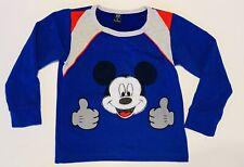Gap Kids Mickey Mouse Classic Unisex Long Sleeve Blue Shirt Fluffy Rare Size 4