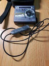 Vintage Sony Minidisc Walkman Model Mz-G750 With Remote Rm-Mz3R
