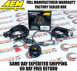 AEM X-Series Wideband Gauge 52mm UEGO Air Fuel AFR Controller 4.9 Sensor 30-0300