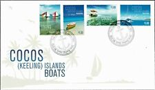 2011 COCOS (KEELING) ISLANDS Boats (4) FDC