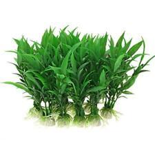10X Artificial Green Seaweed Water Plants Plastic Fish Tank Aquarium Decorations