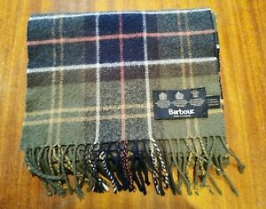 MENS BARBOUR WOOL, CASHMERE CHECKED SCARF