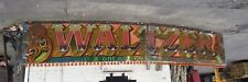 Waltzer Fairground Ride Decorative Waltzer Sign. Approx 20ft Long With Lights