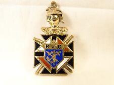 Antique 10 K Gold Knights of Columbus K of C TFMM Skull Maltese Cross Watch Fob
