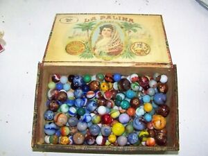 Lot of Vintage Marbles well over 100. Shooters many types swirls, ect. LOOK