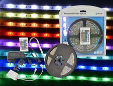 Led Tape Kit DIY 5M RGB Low Voltage Motorhome Caravan Kitchen Waterproof Ponds