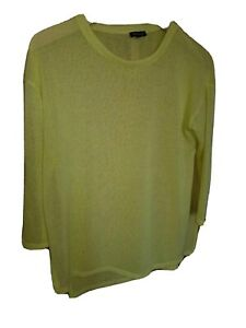 RIVER ISLAND THIN YELLOW SPRING JUMPER BLOUSE CARDIGAN WITH CUTS 10 S 12 M