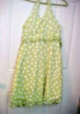 Disorderly Kids Girls Dress SZ 10-12 Lime Green Dotted with Spangles Halter Top