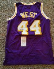 NBA Hall of Famer Jerry West Signed Purple Los Angeles Lakers Jersey (JSA COA)