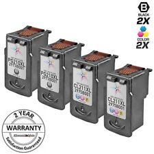 4 PK SET PG-210XL CL-211XL Black & Color  Ink Cartridge for Canon PIXMA MP250