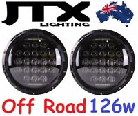 "JTX 7"" Off Road LED Headlights DRL 126w for Nissan Patrol GQ Y60 Ford Maverick"